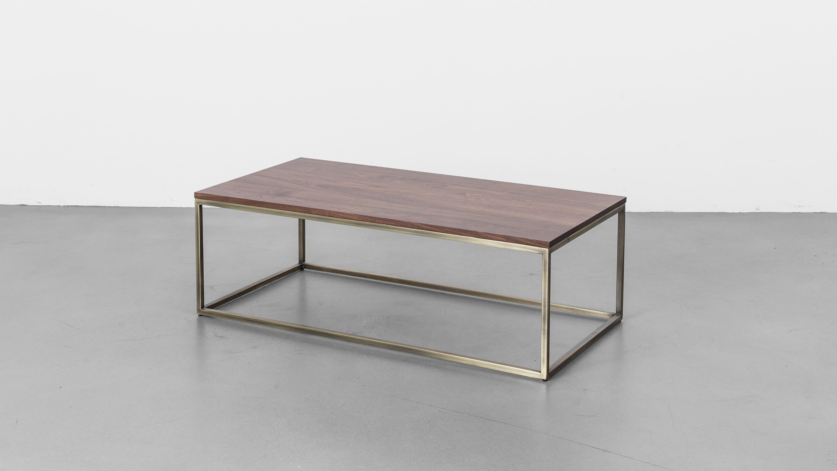 Brass coffee table the first line from our new elements collection frame features iterations