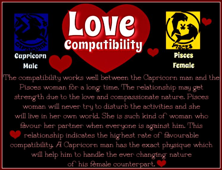 Capricorn men pisces woman