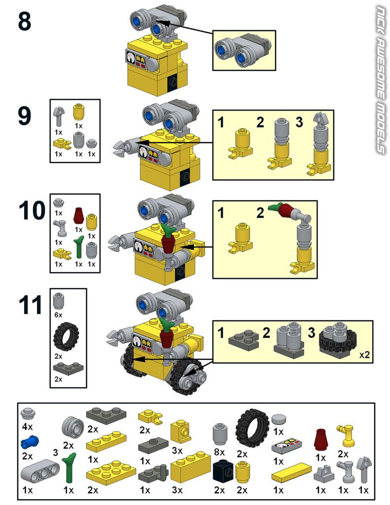 Wall E Instructions Lego Craft Lego Projects Lego Diy