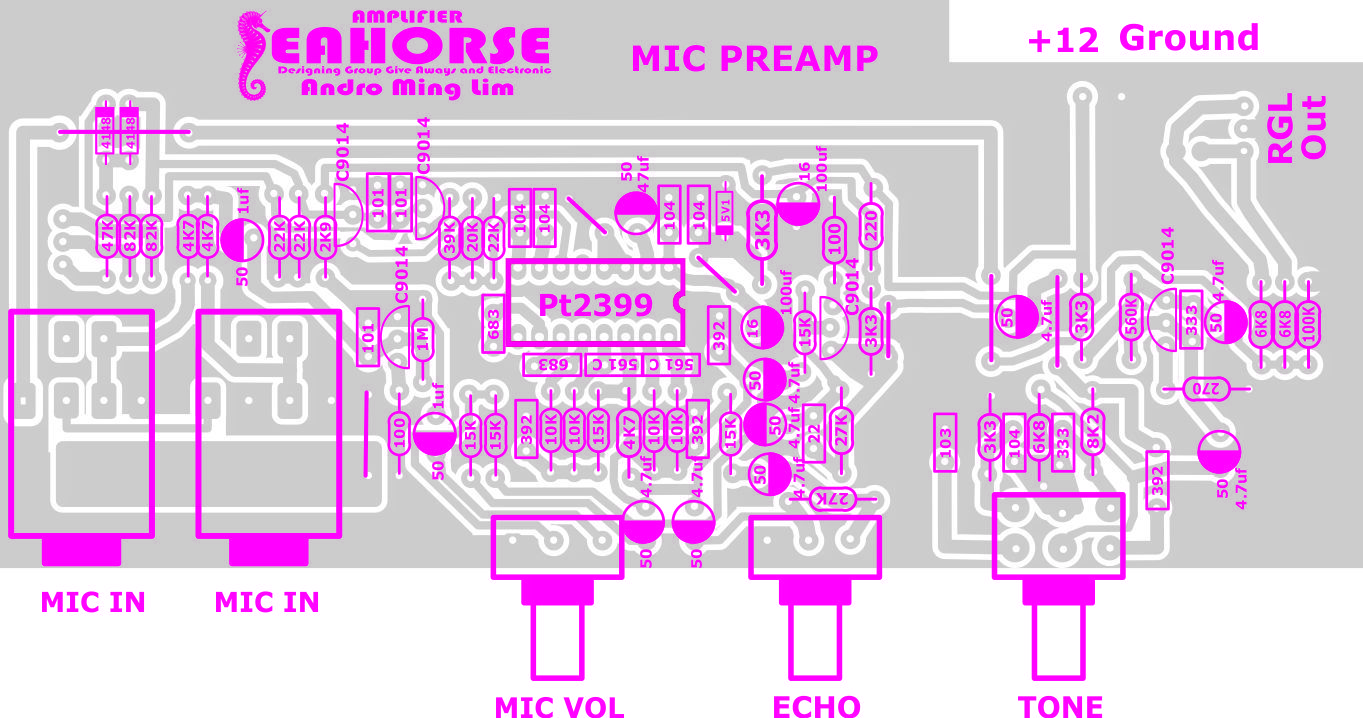 Seahorse Mic Preamp Diy Amplifier Pinterest Band Stop Filter Electronic Circuits And Diagramelectronics Arduino Bmw Cook November