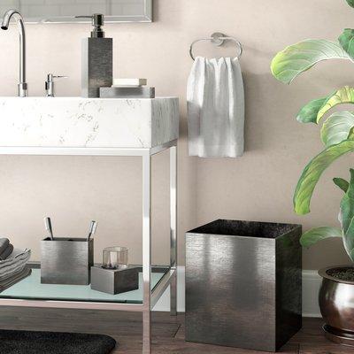 Orren Ellis Brazelton Steely 4 Piece Bathroom Accessory Set In 2020 Bathroom Accessories Sets Bathroom Accessories Bathroom
