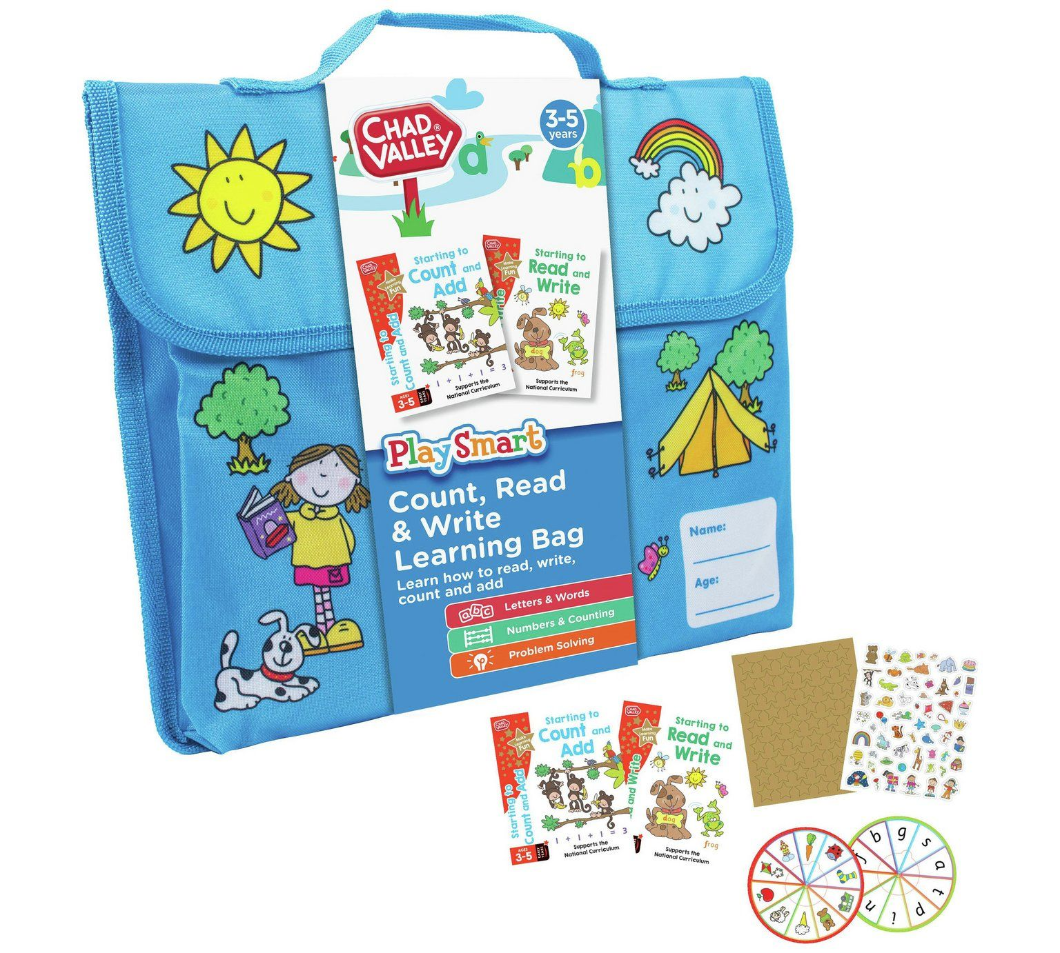 Buy Chad Valley PlaySmart Count, Read & Write Learning Bag ...