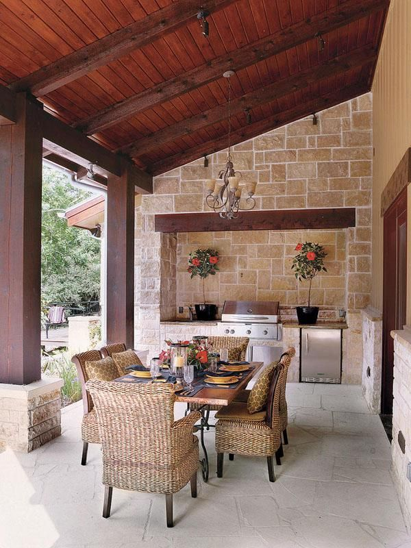 Sprawling Texas Ranch Style Home Outdoor Kitchen Design Outdoor Rooms Outdoor Kitchen