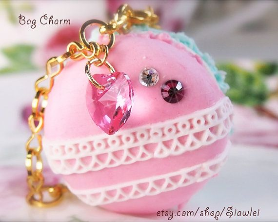 Decoden Lace Macaron Bag Charm/Necklace by Siawlei on Etsy, $32.00
