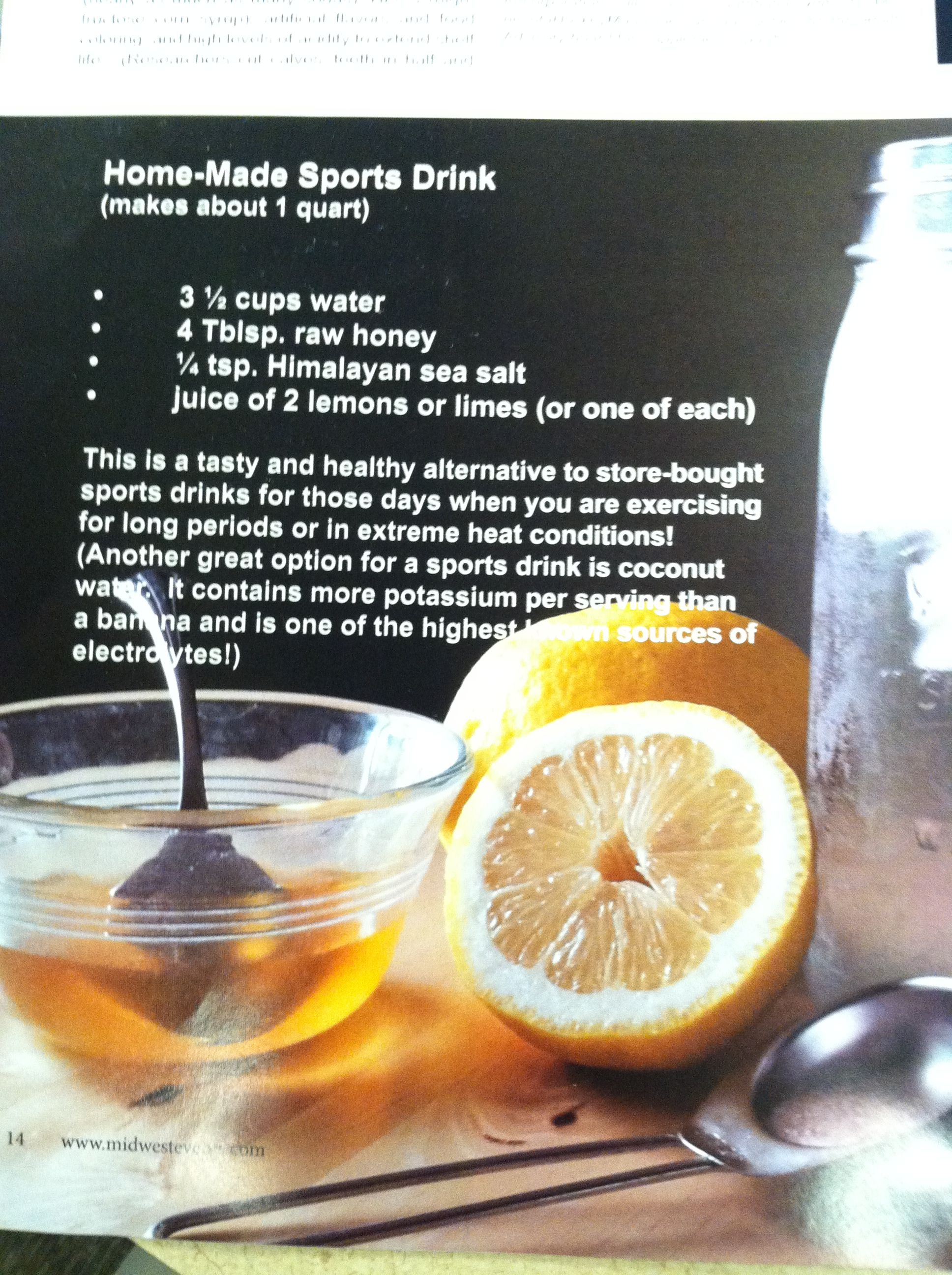In love with this all natural sports drink substitute