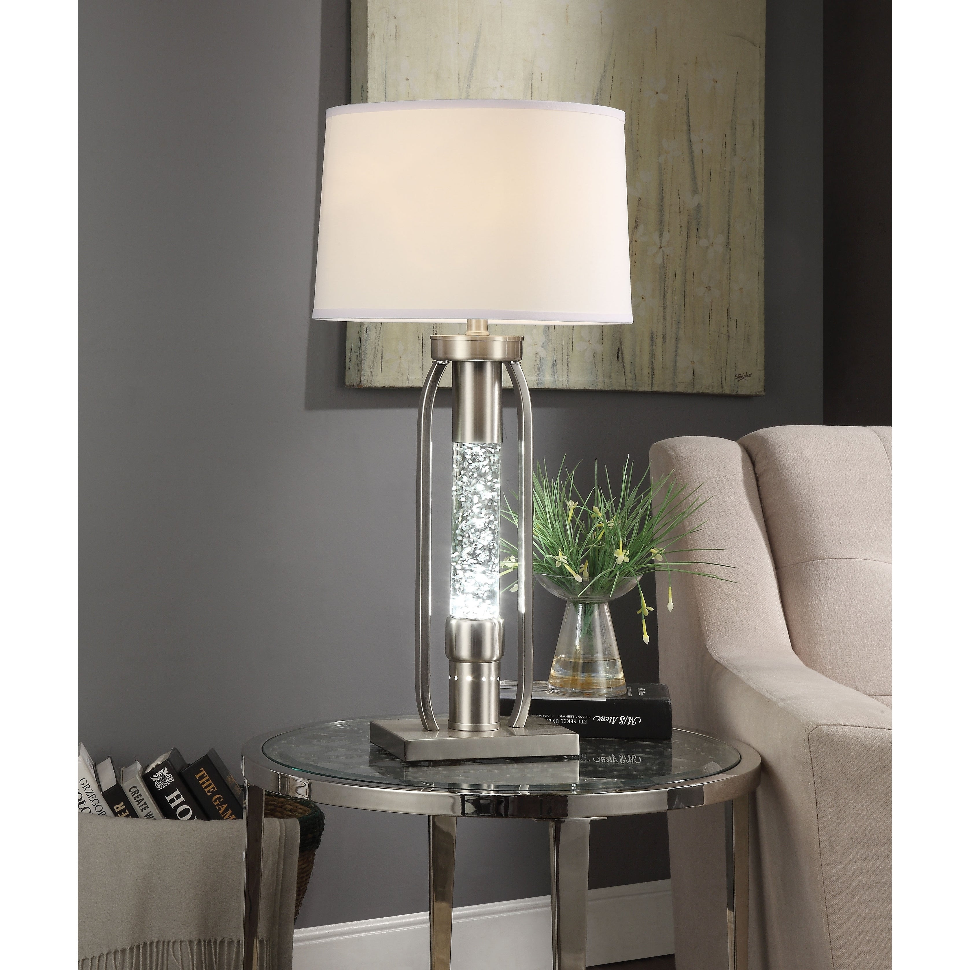 Floor Lamp with Fabric Drum Shade