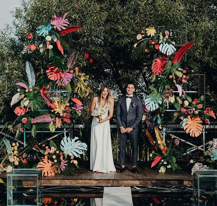 Unconventional Wedding Altar: Totally Unique Botanical Inspired Wedding Backdrop