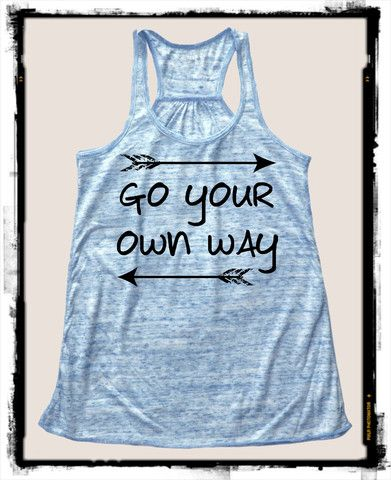 Go Your Own Way Bella Tank – Little Atoms Clothing