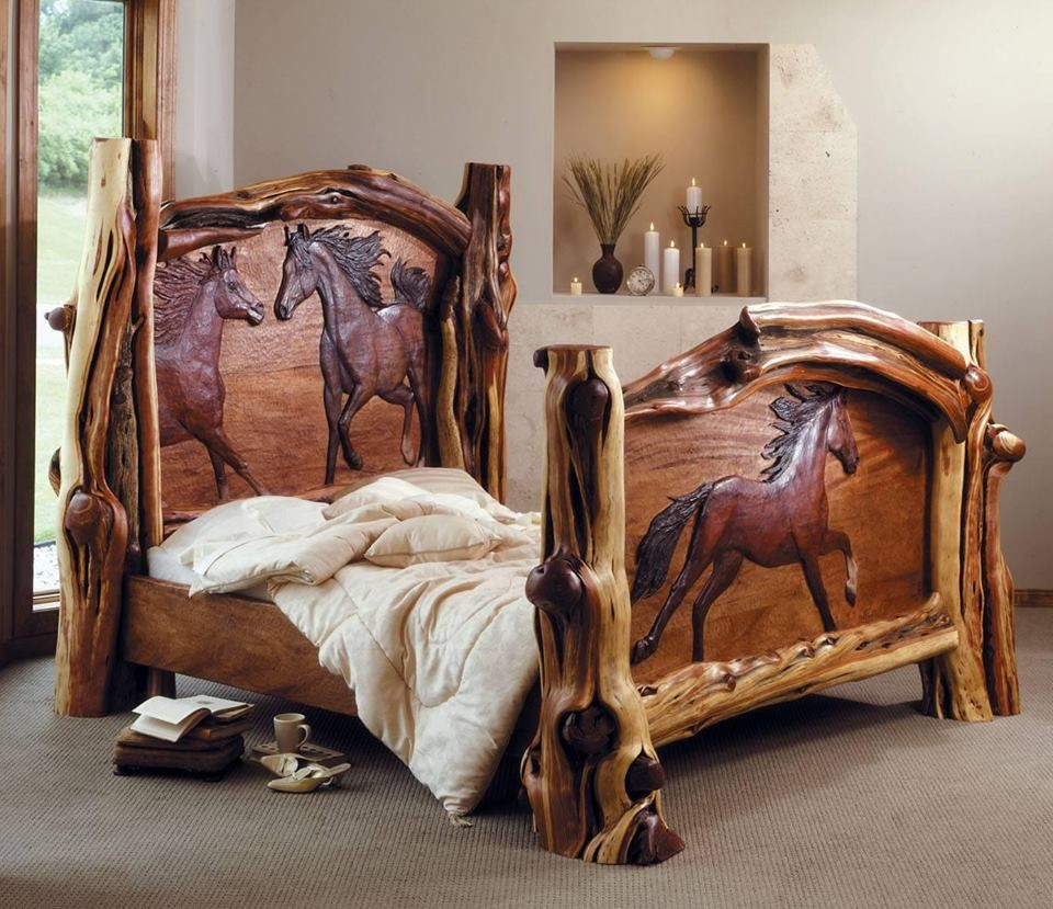 A horse lovers dream bed designed by amber jean for Bedroom ideas for horse lovers