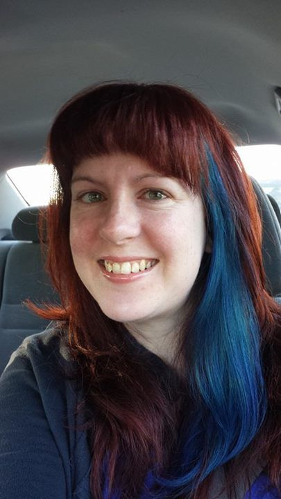 Auburn Hair With A Blue Streak Auburn Hair Red Hair Hair