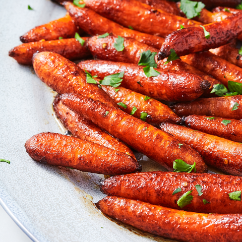 Roasting Baby Carrots In Balsamic Vinegar Is The Best Thing Ever Recipe Roasted Baby Carrots Veggie Side Dishes Eating Carrots