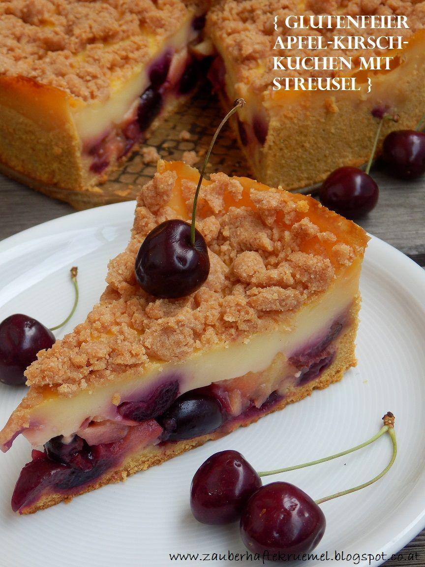 Rezepte Apfel Kirsch Kuchen Mit Streusel Glutenfrei Glutenfreier Kuchen Lebensmittel Essen Kuchen Ohne Backen