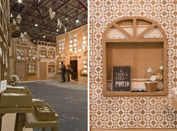 Os Amores Do Porto Porto Lovers By Oupas Design On Behance Made 100 Made With Used Cardboard Boxe Model Homes Theatre Design