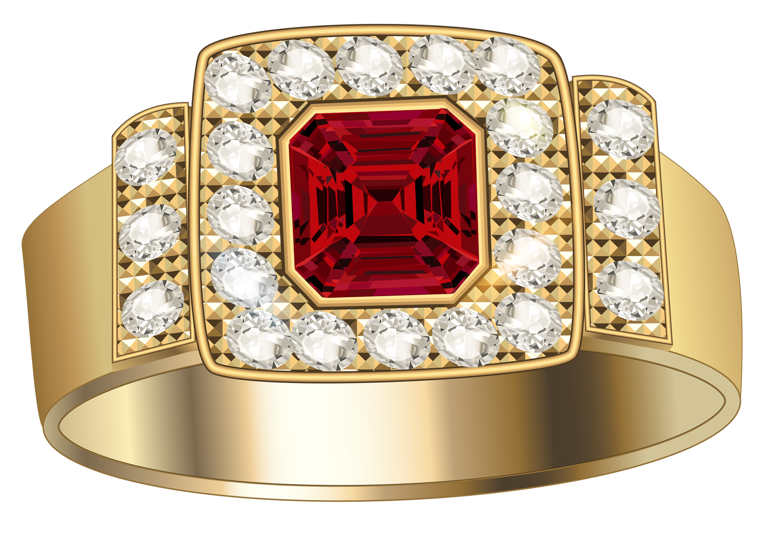 Gold Ring With Diamonds Png Image Gold Rings Golden Ring Diamond