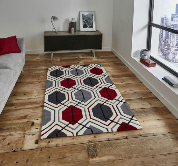 Hk 7526 Cream Red Rugs Online From Direct