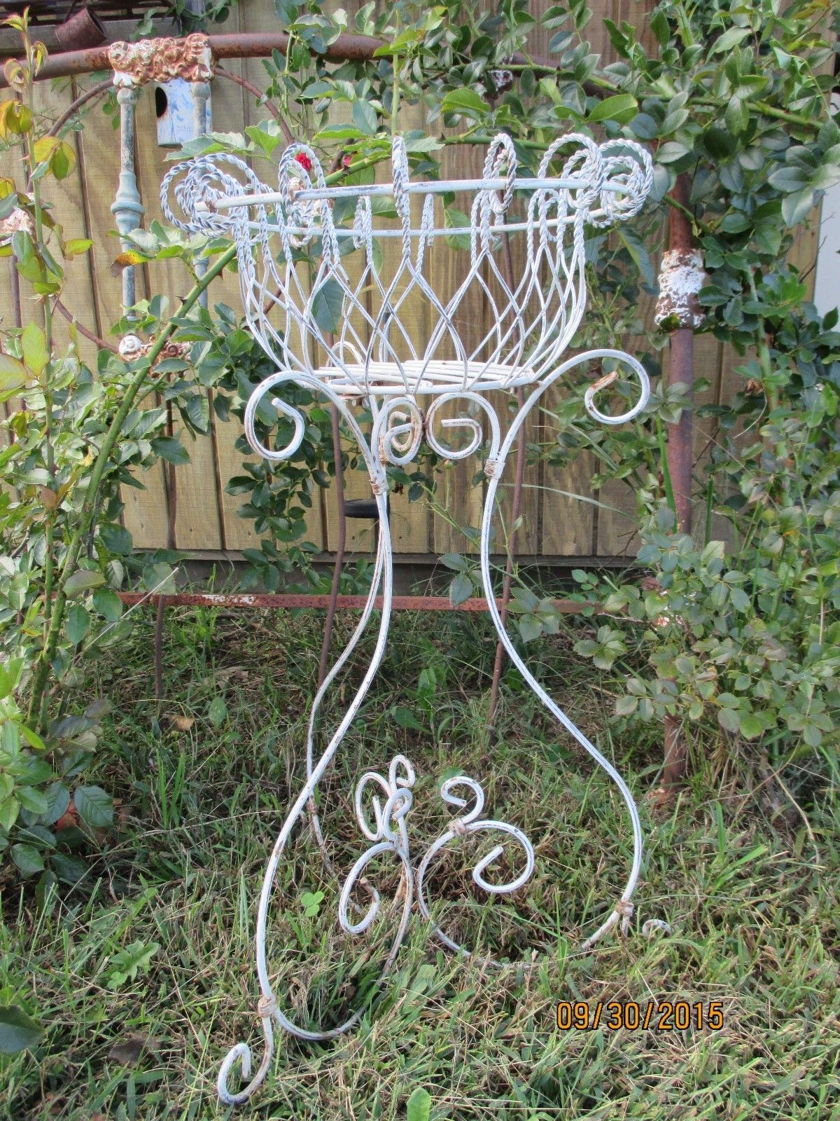 Tall Wrought Iron Plant Stands Vintage Shabby Rustic Wrought Iron Metal Plant Stand