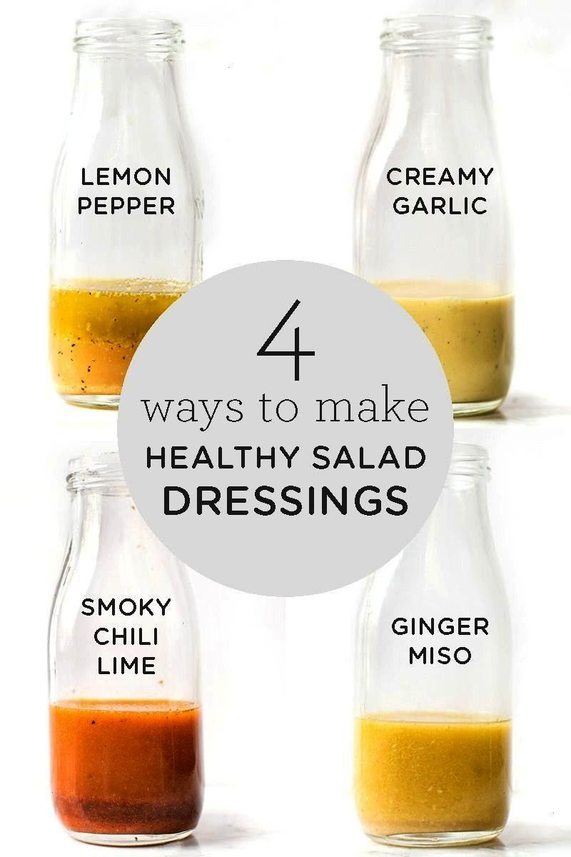 Dressing: 4 Different Ways - Simply Quinoa  Looking for an easy way to jazz up your boring salads?