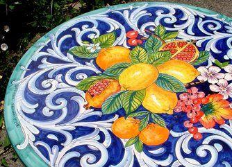 Italiano in ceramica di vietri pannello di piastrelle foto