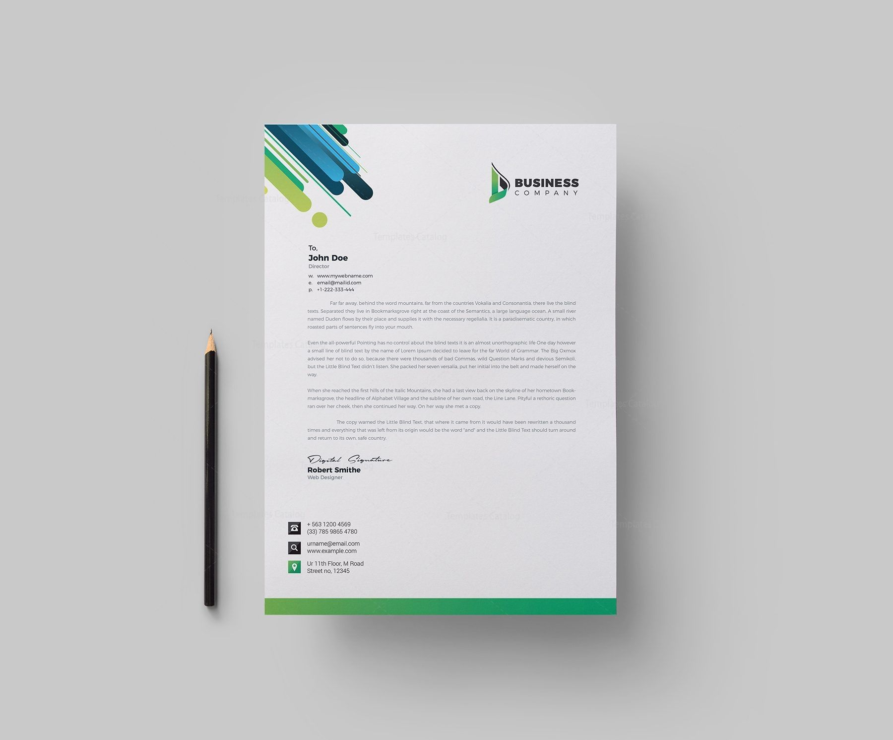 Best Corporate Identity Pack Design Template 002120 Template Catalog Letterhead Design Letterhead Template Company Letterhead Template