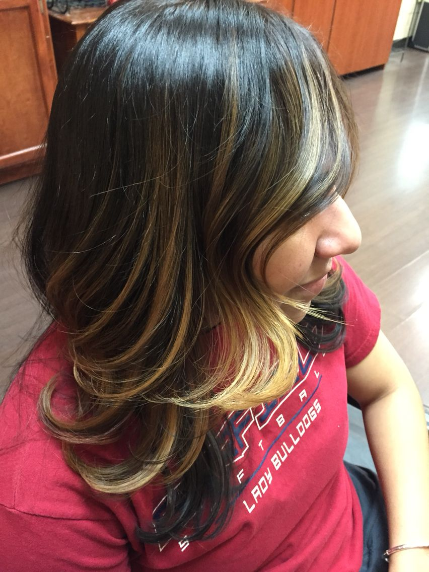 Golden Blonde Balayage Highlights Hair Color Ideas Pinterest