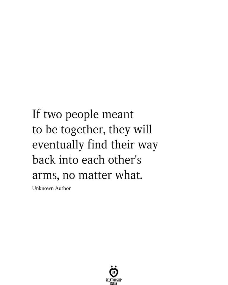 If Two People Meant To Be Together,