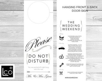 Do Not Disturb Wedding Itinerary  Google Search  Favors