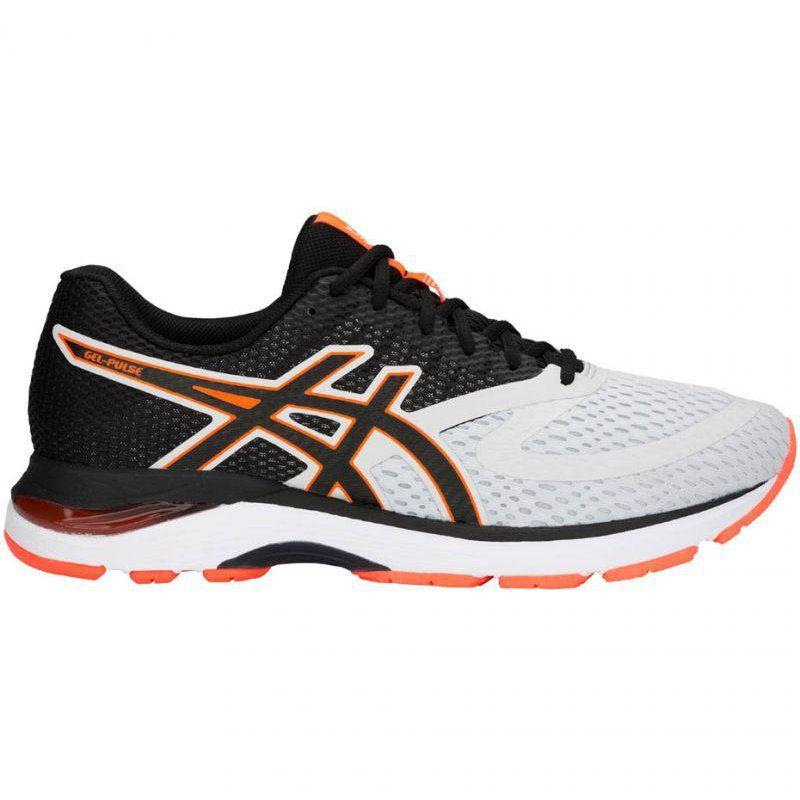 Buty Biegowe Asics Gel Pulse 10 M 1011a007 020 Biale Czarne Pomaranczowe Asics Gel Pulse Asics Asics Running Shoes