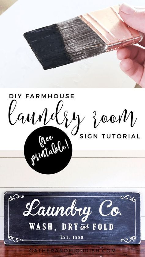 Farmhouse Laundry Room Sign Tutorial