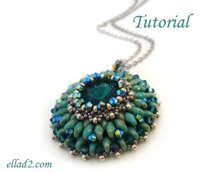 Beading Tutorial: Eau de Source Pendant. Want more jewelry tutorials? Follow www.pinterest.com/EverDesigns