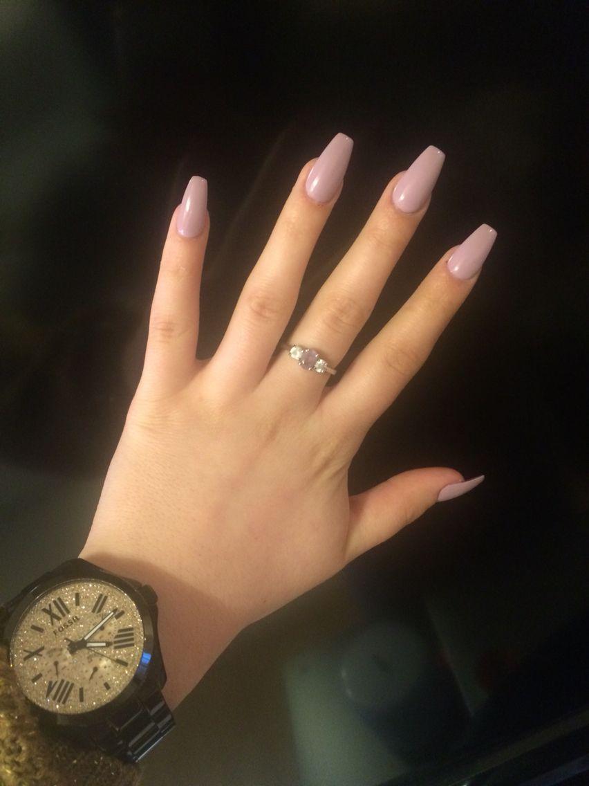 Ballerina shape lila ♌ | Nails | Pinterest | Diseños de uñas ...