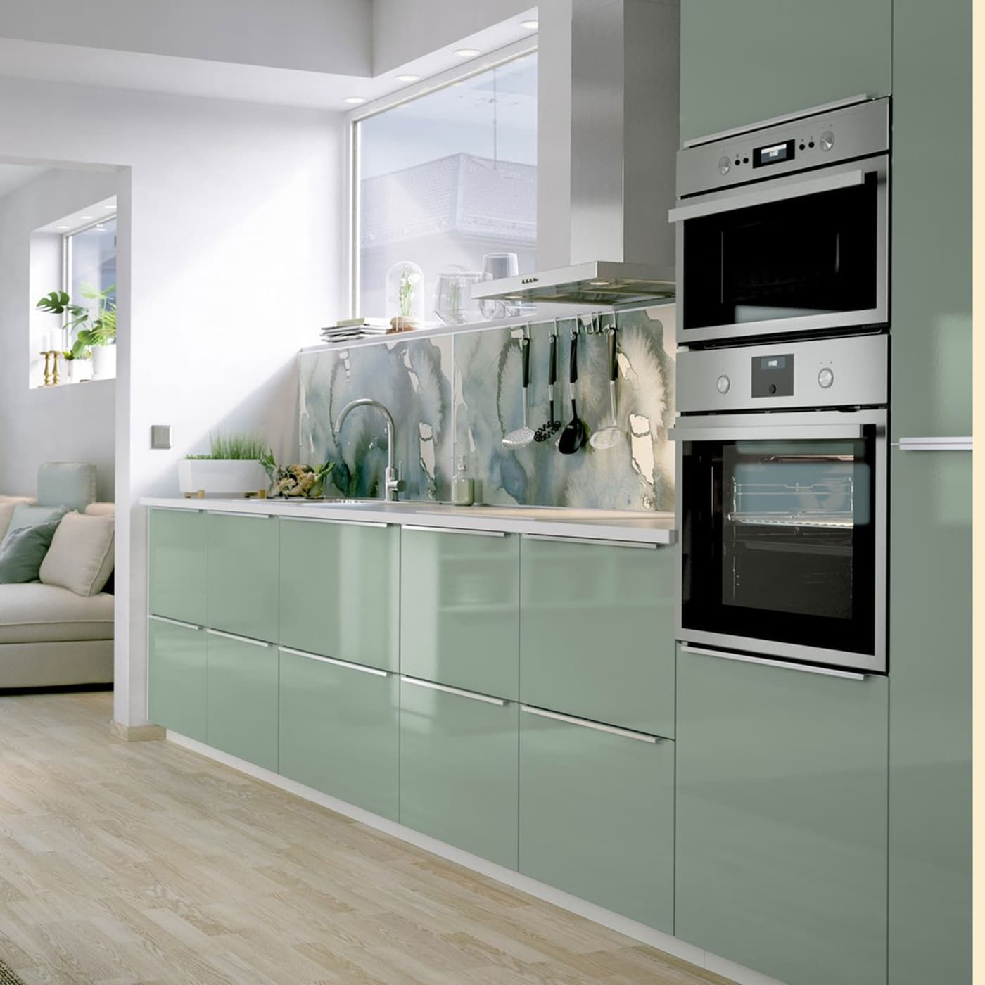 Glossy Kitchen, Green Kitchen