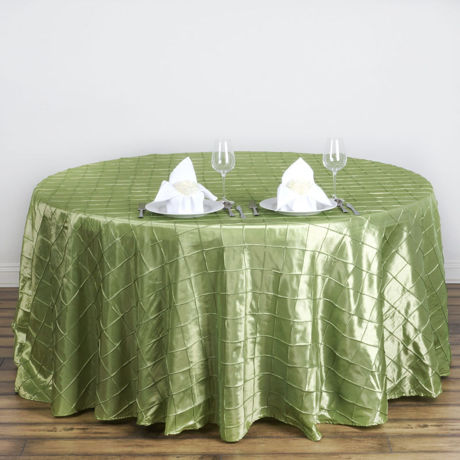 120 Pintuck Fancy Round Tablecloths Linens Wedding Party Catering Supplies