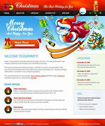 Christmas Template Free PSD Templates Pinterest Christmas