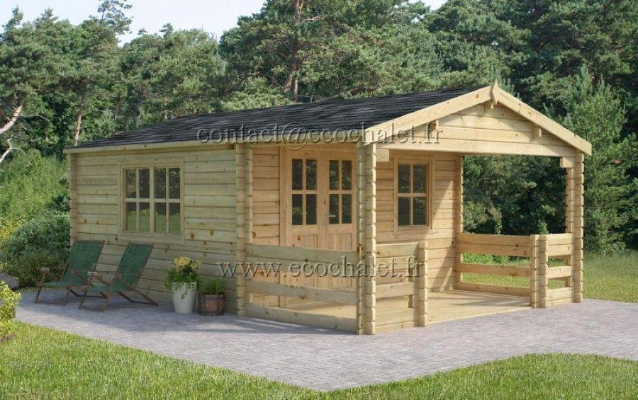 Chalet En Bois Manchester 23 40m 4x5 85m 68mm Maison Bois Bois Maison
