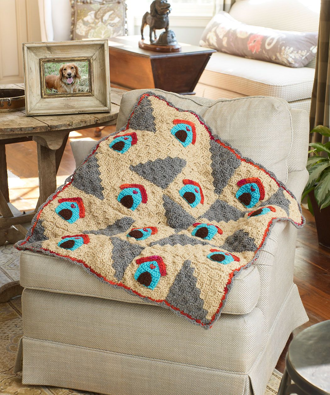 A Dog's Home Throw Free Crochet Pattern for a dog