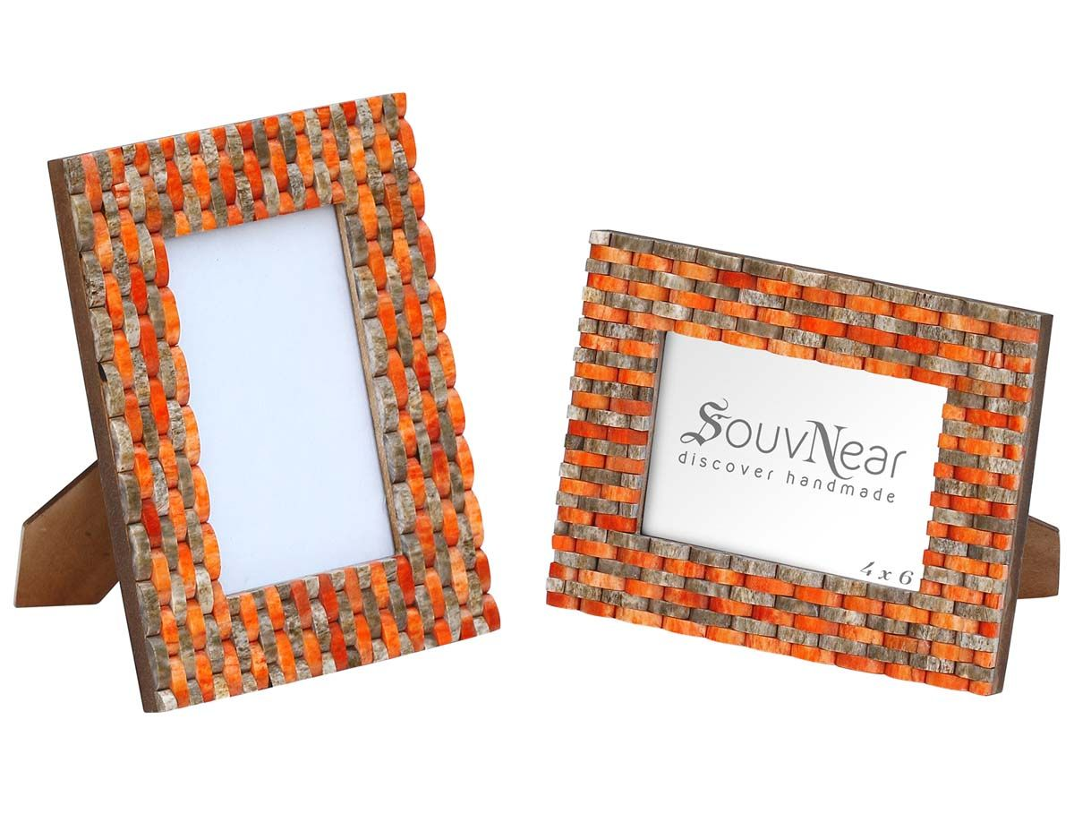 4x6 Inches Orange Brown Pattern Picture Frame in Bulk – Wholesale ...