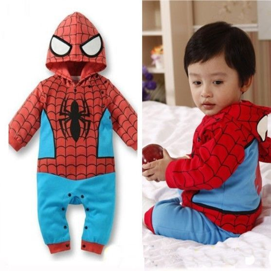 Baby Boy Spiderman Outfit Babygrow Bodysuit Fancy Dress Costume 6 months-2 years