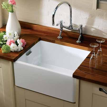 belfast sink wooden benchtops - Kitchen Sinks Ceramic