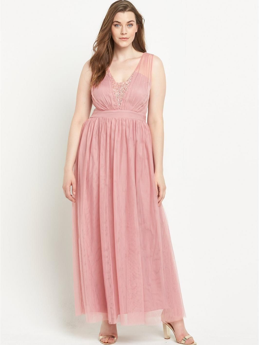 Embellished Pleated Mesh Maxi , http://www.very.co.uk/little ...