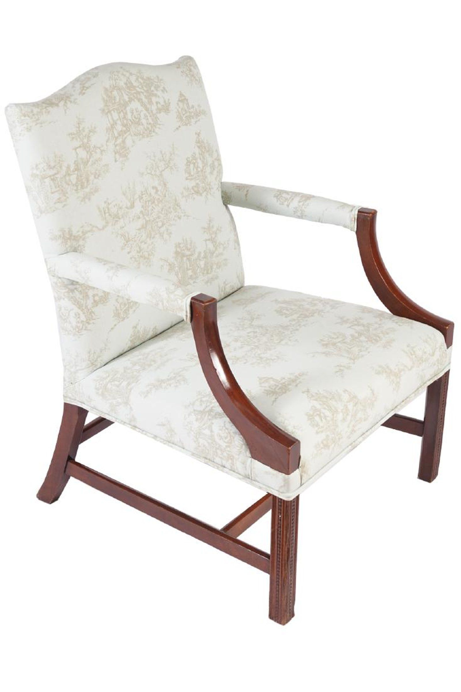 Pair of edwardian period mahogany and upholstered #edwardianperiod