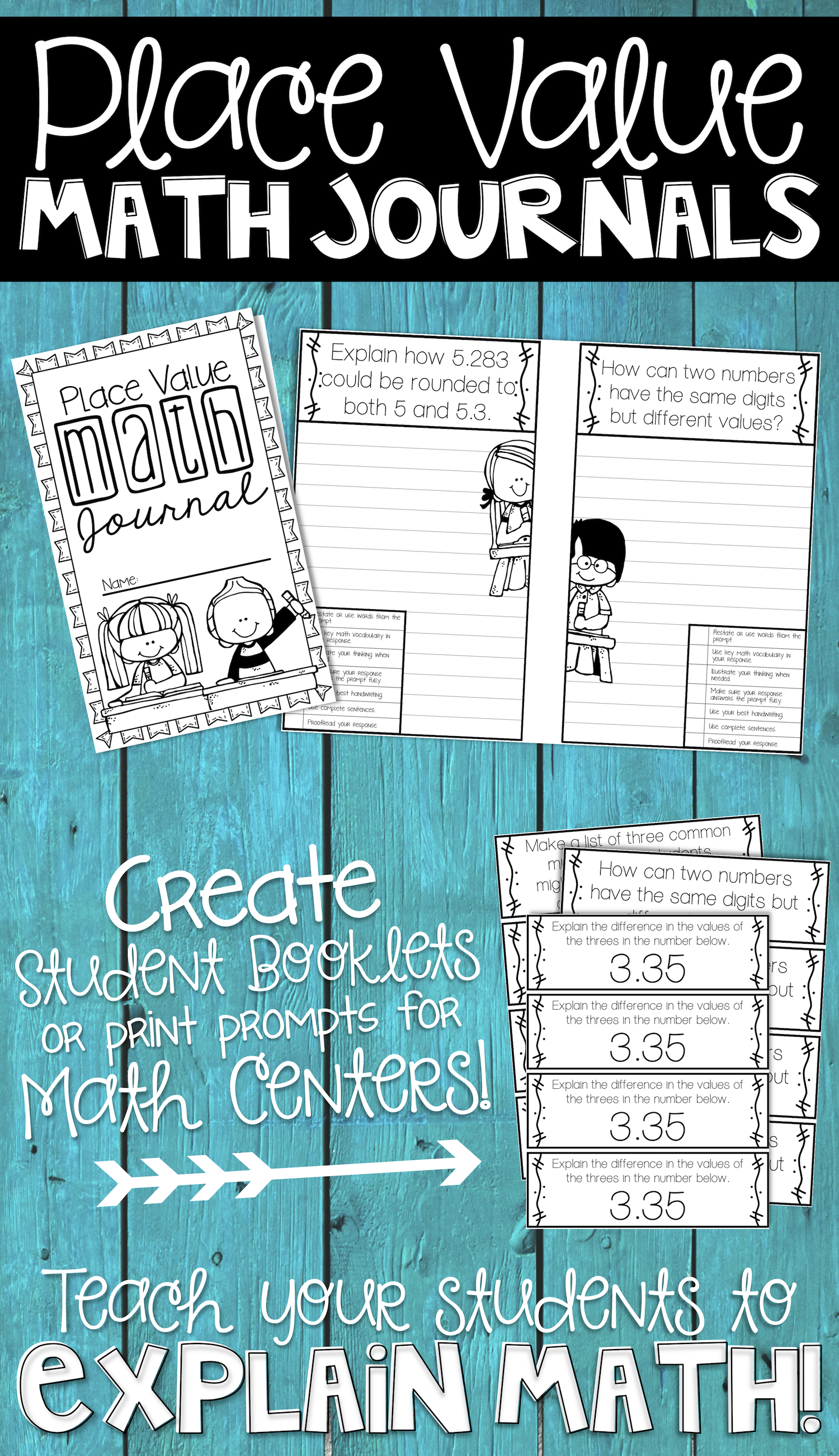 5th Grade Place Value Math Journal | Math journals, Common core ...