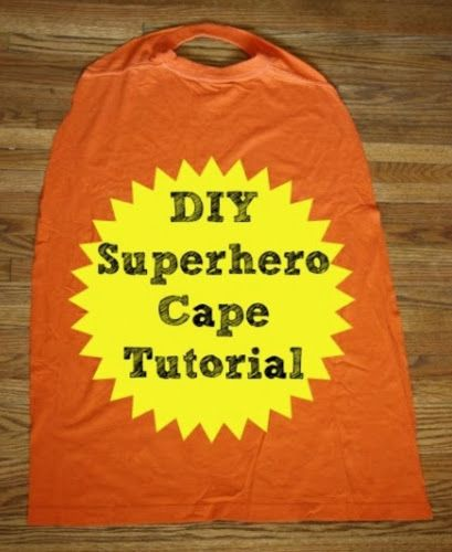 superhelden cape aus t shirt n hen f r kinder. Black Bedroom Furniture Sets. Home Design Ideas