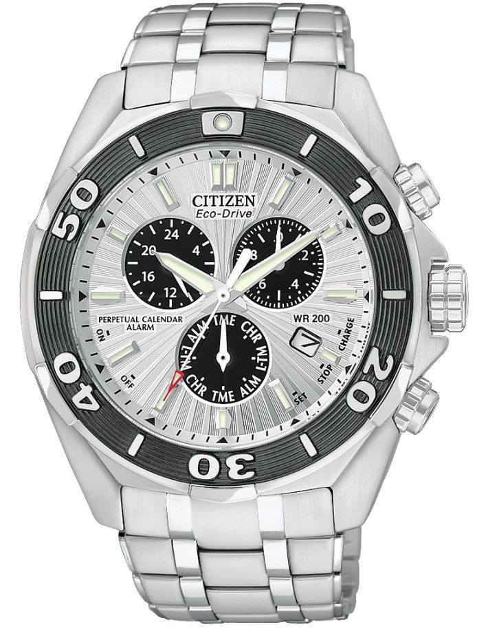 Citizen Signature EcoDrive Perpetual Chronograph Mens Watch