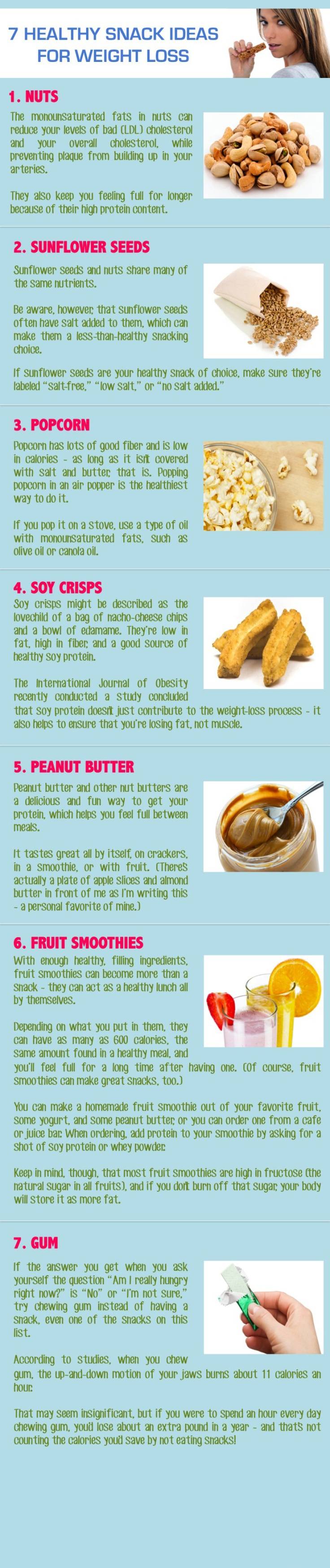 7 healthy snack ideas for weightloss infographic fitness
