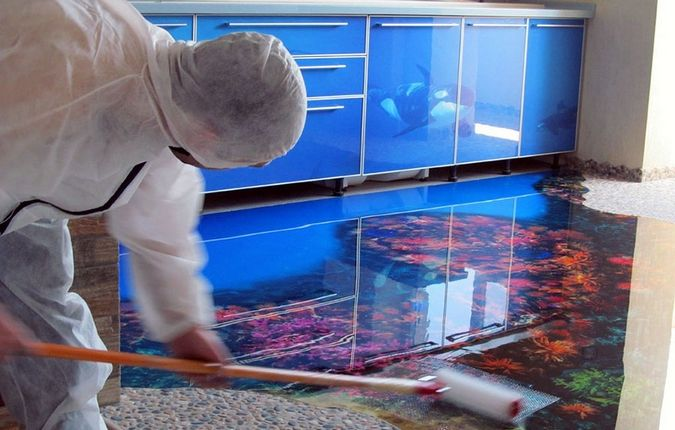 How To Install 3d Flooring For Kitchens Should We 3D Floor Art With Epoxy Paint In Our Read This Article And See The