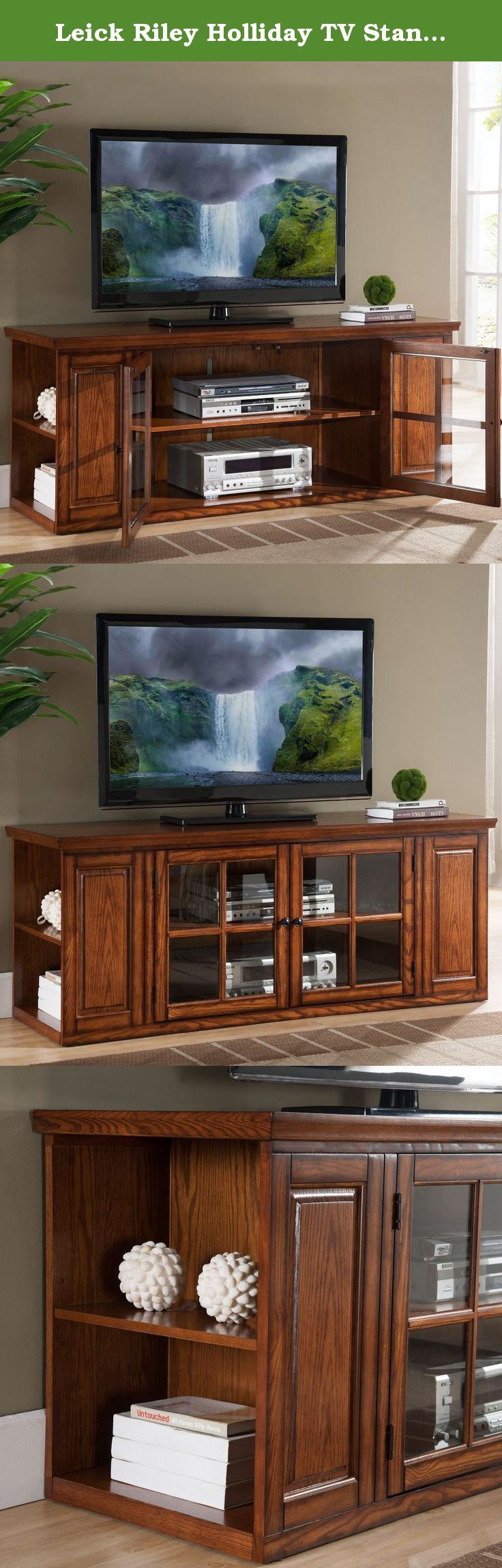 Leick Riley Holliday Tv Stand 62 Inch Burnished Television