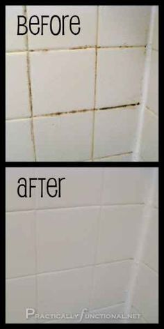 Banish Grout Mold With Some Bleach, Baking Soda And Elbow Grease. | 29 Hacks