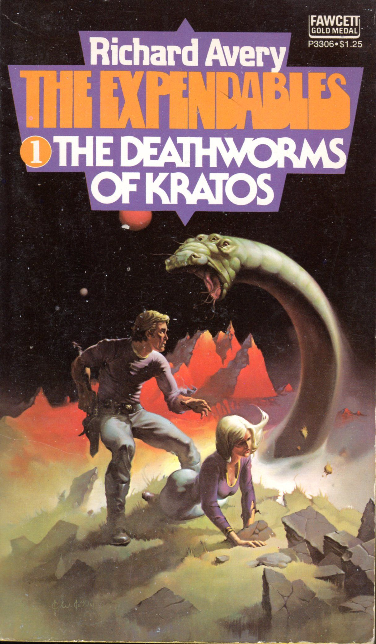 The Expendables #1: The Deathworms of Kratos - Richard Avery, cover ...