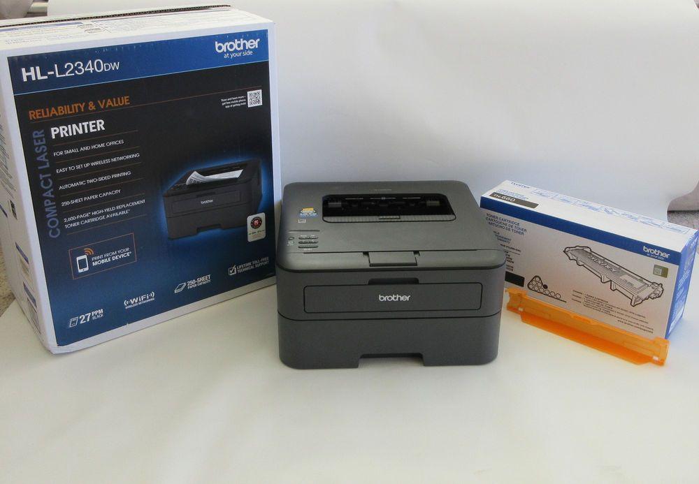 Brother Hl L2340dw Compact Laser Printer Wireless Monochrome Duplex Cord Box Brother Laser Printer Cord Box Wireless