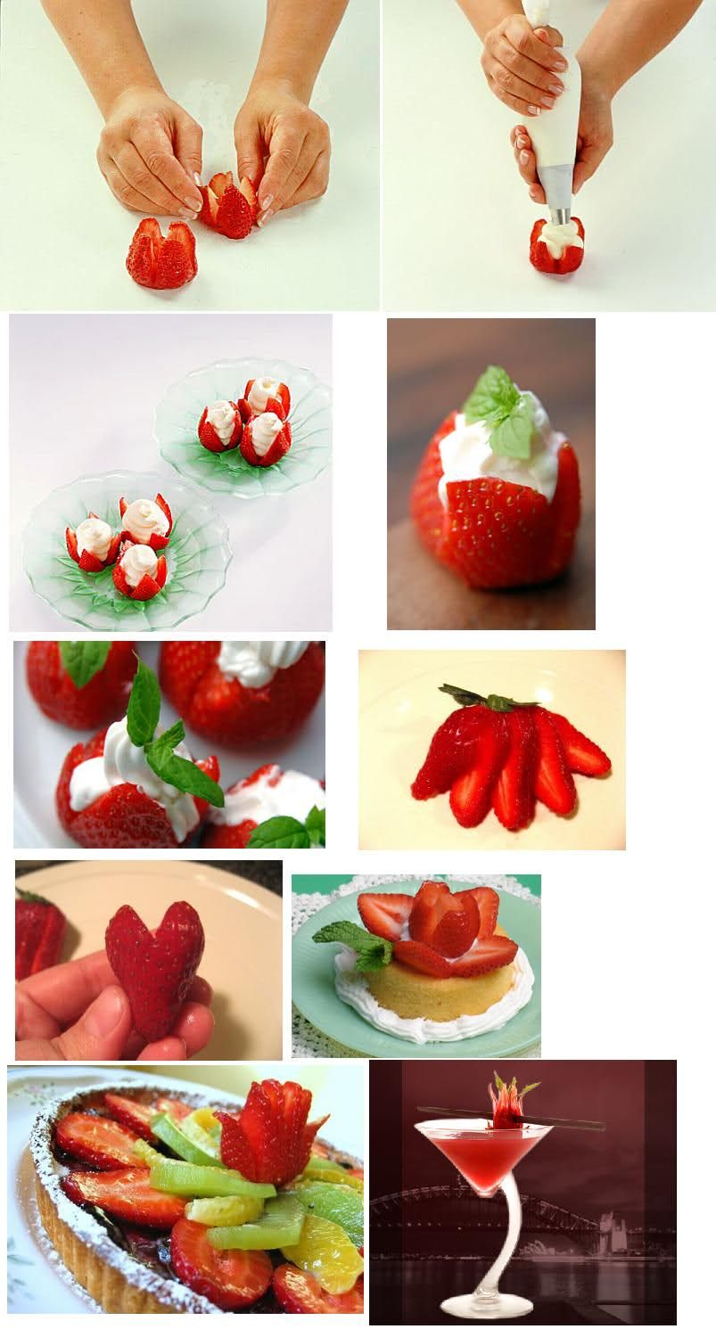 centros de mesa con fruta verdura Fresa en postres decoracion de ...